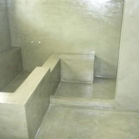 Baño  de obra en color Jade